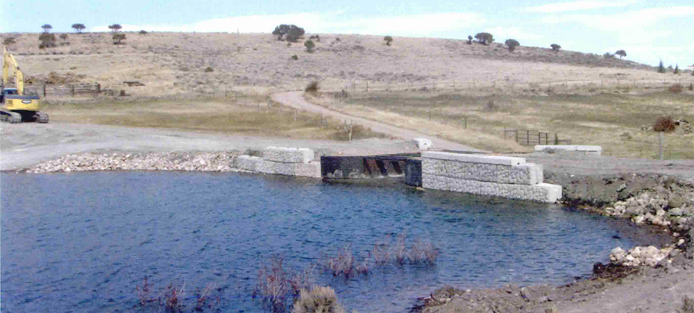 Picture of Andy Johnson's dam