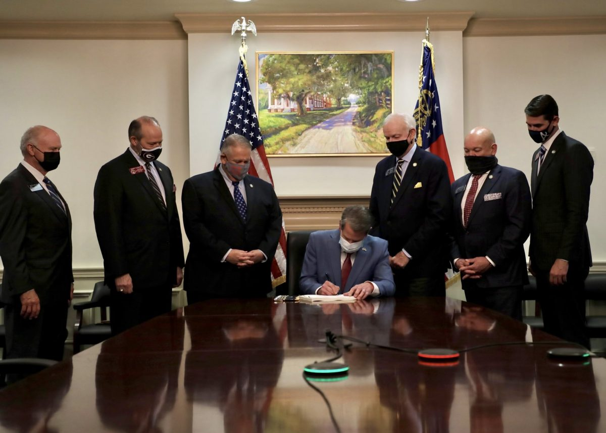 Kemp signing new voting law